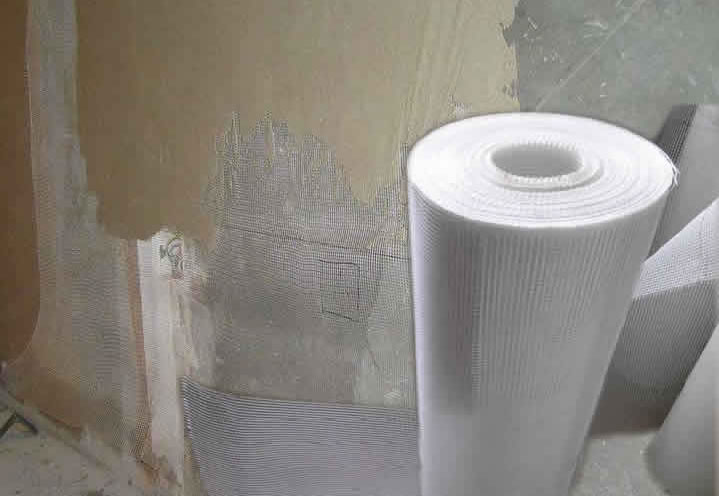 Non Alkali Fiberglass Mesh for Mortar Wall Reinforcement Againt Shrinkage.