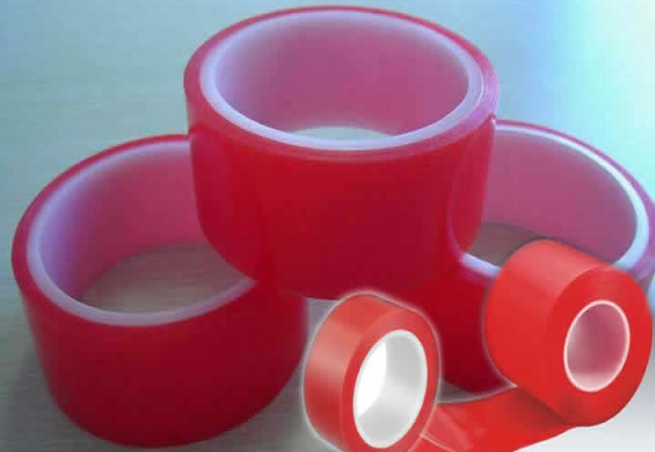 Transparent PET Film Acrylic Adhesive Double Sided Polyester Tape for Power Loops Wrapping.