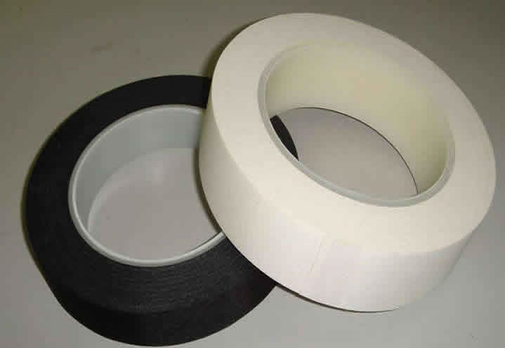 Anti-flame woven fiberglass tape used as binder tape for fire resistant cables.